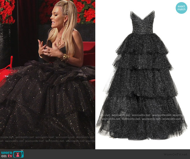 Strapless Gown by Monique Lhuillier worn by Tinsley Mortimer  on The Real Housewives of New York City