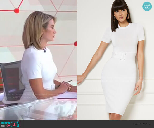 Cornelia Sweater Dress - Eva Mendes Collection by New York & Company worn by Amy Robach  on Good Morning America