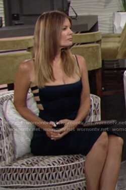 Phyllis's blue dress with side cutouts on The Young and the Restless