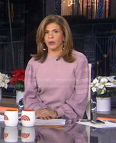Hoda's pink striped sleeve top on Today
