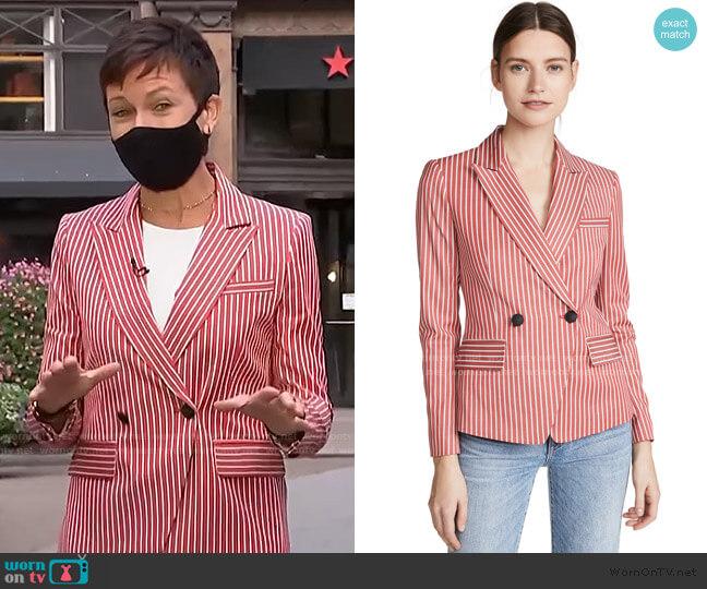Fletcher Stripe Blazer by Rag & Bone worn by Stephanie Gosk  on Today
