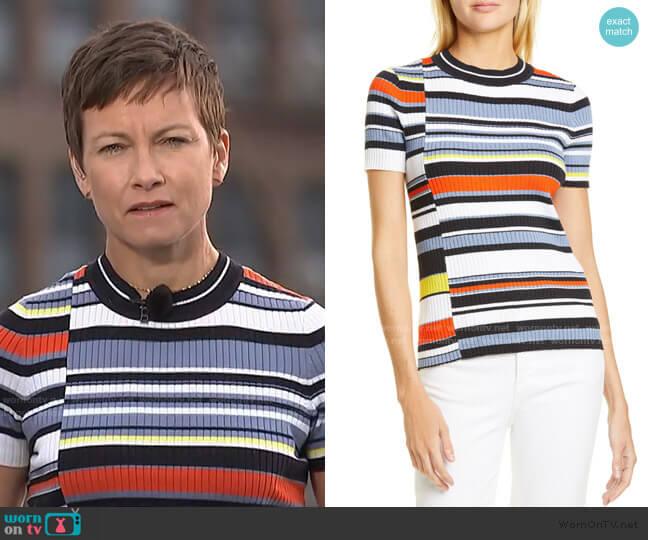 Mason Stripe Short Sleeve Sweater by Rag and Bone worn by Stephanie Gosk  on Today