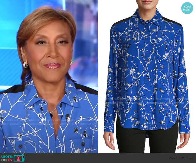 Therese Blouse by Rag & Bone worn by Robin Roberts  on Good Morning America