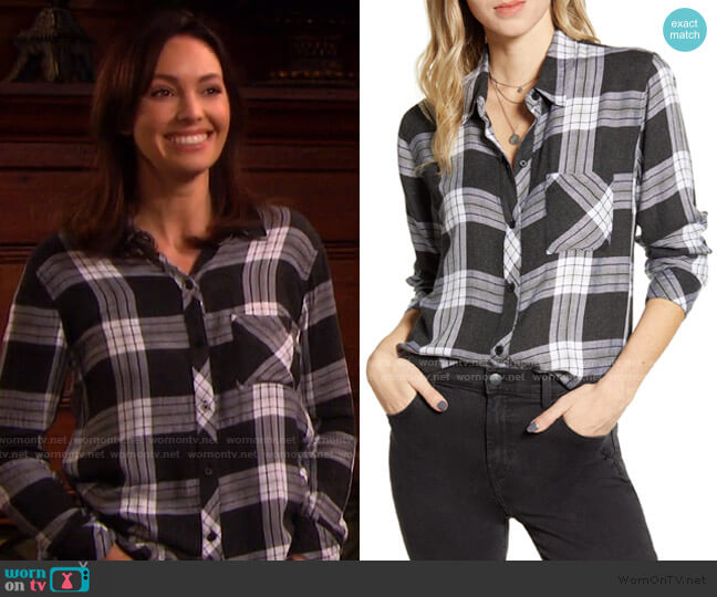 Hunter Shirt by Rails worn by Gwen Rizczech (Emily O'Brien) on Days of our Lives