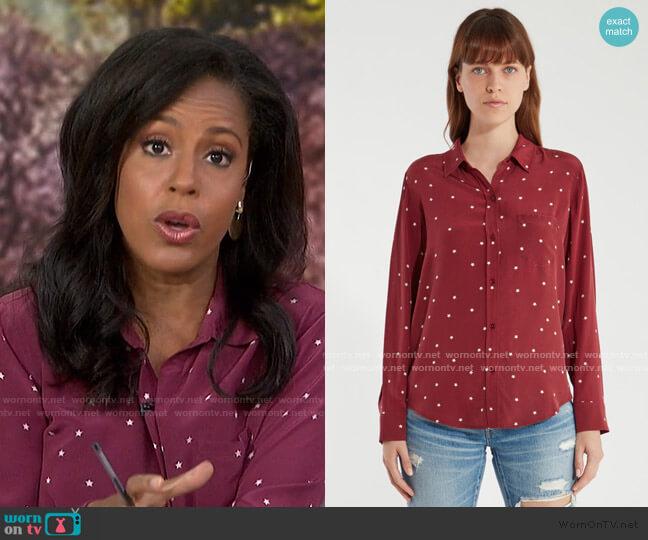 Kate Stars Silk Shirt by Rails worn by Sheinelle Jones  on Today