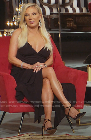 Ramona's black asymmetric strap dress on The Real Housewives of New York City
