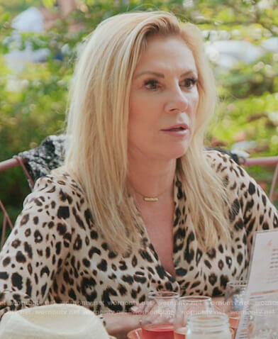 Ramona's leopard twist blouse on The Real Housewives of New York City