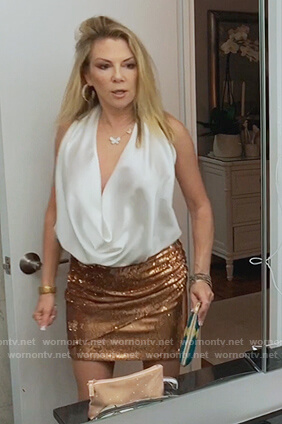 Ramona's white halter top on The Real Housewives of New York City