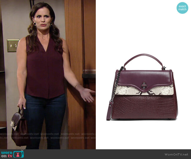 Rebecca Minkoff Phoebe Satchel worn by Chelsea Lawson (Melissa Claire Egan) on The Young & the Restless