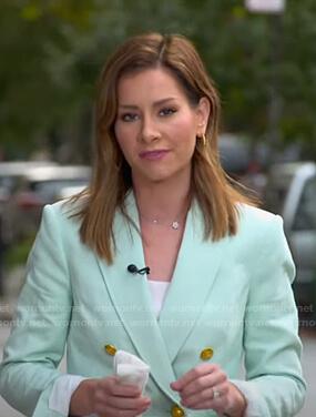 Rebecca's mint green blazer on Good Morning America