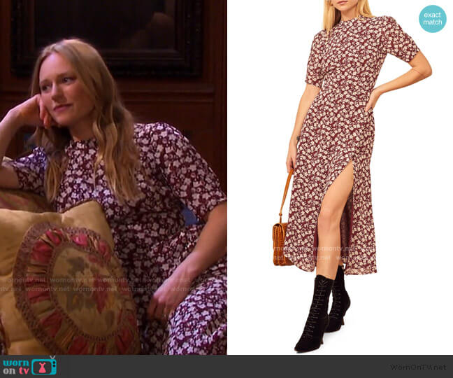 Gio Ditsy Floral Midi Dress by Reformation worn by Abigail Deveraux (Marci Miller) on Days of our Lives