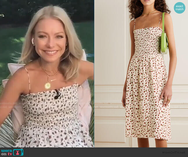 Sable Midi Dress by Reformation worn by Kelly Ripa  on Live with Kelly & Ryan