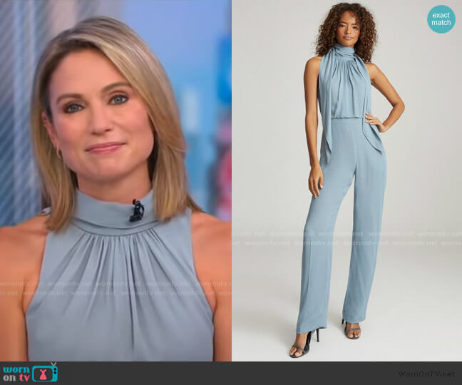 Adele Jumpsuit by Reiss worn by Amy Robach  on Good Morning America