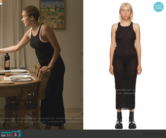 Microrib Tank Dress by Rick Owens worn by Chloe Stevens on We Are Who We Are