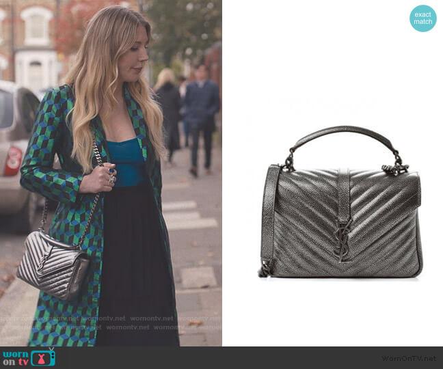 Matelasse Chevron Monogram Bag by Saint Laurent worn by Katherine (Katherine Ryan) on The Duchess
