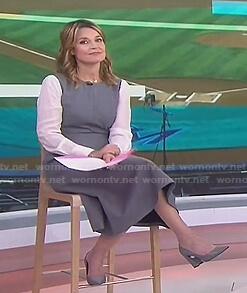 Savannah's grey two-tone midi dress on Today
