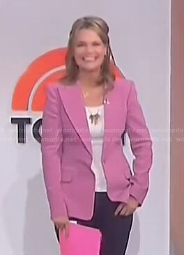 Savannah's pink blazer on Today