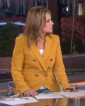 Savannah's orange double breasted blazer on Today