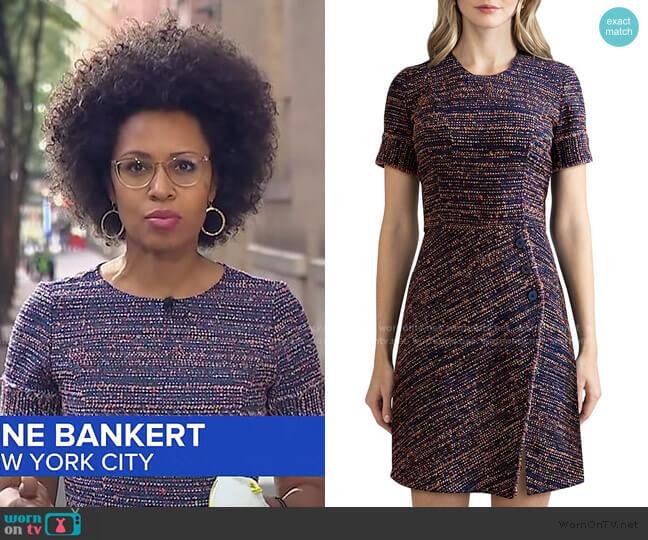 Adalyn Tweed Dress by Shoshanna worn by Adrienne Bankert  on Good Morning America