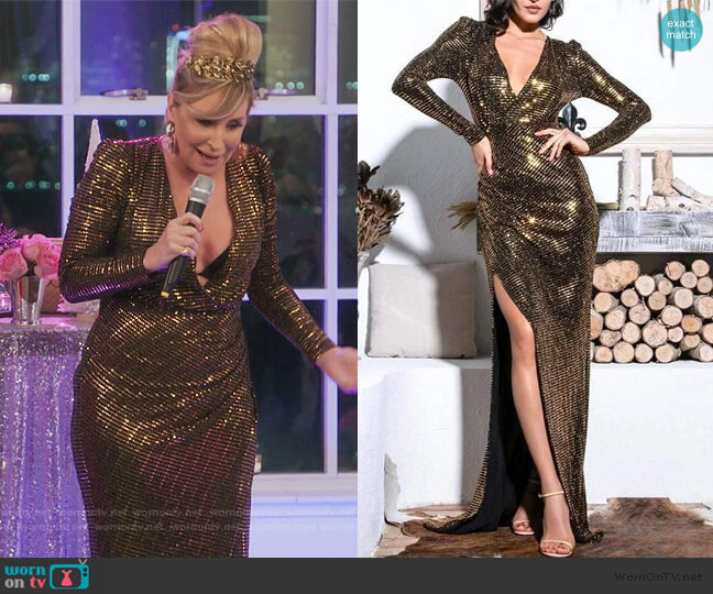 Time To Shine Maxi Dress by Sonja worn by Sonja Morgan  on The Real Housewives of New York City