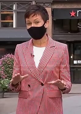Stephanie's red striped blazer on Today