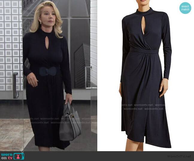 Astrrid Asymmetrical Jersey Dress by Ted Baker worn by Nikki Reed Newman (Melody Thomas-Scott) on The Young & the Restless