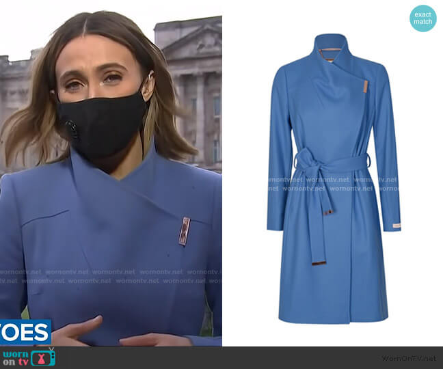 Sandra Wrap Coat by Ted Baker worn by Sarah Harman on Today