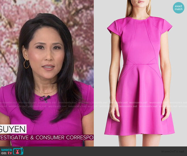 Eebrr Skater Dress by Ted Baker worn by Vicky Nguyen on Today