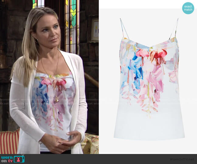 Hanging Gardens Camisole by Ted Baker worn by Sharon Collins (Sharon Case) on The Young & the Restless