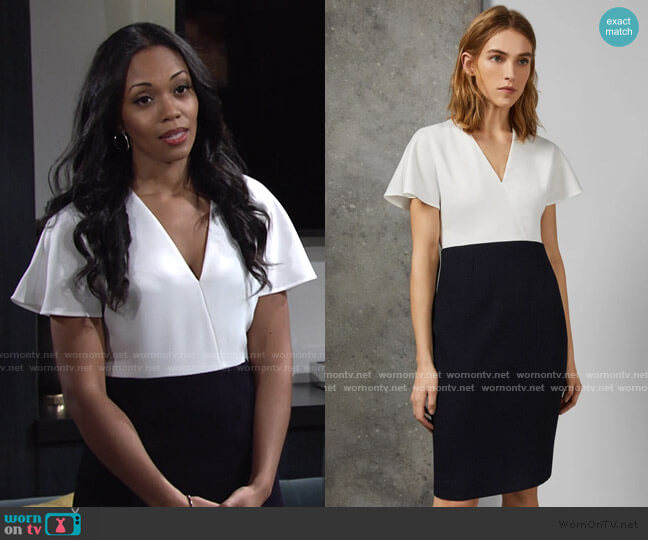 Reemad Mockable Midi Length Dress by Ted Baker worn by Amanda Sinclair (Mishael Morgan) on The Young & the Restless
