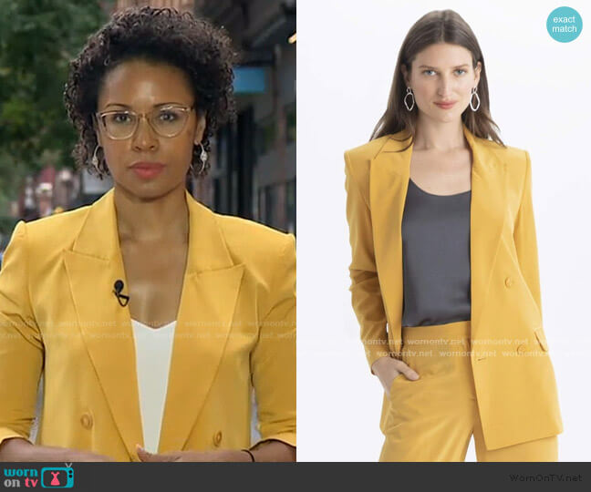 Silk Blazer by The Reset worn by Adrienne Bankert  on Good Morning America