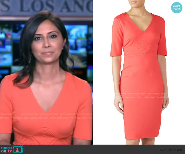 Ashton Dress by Trina Turk worn by Zohreen Shah on GMA