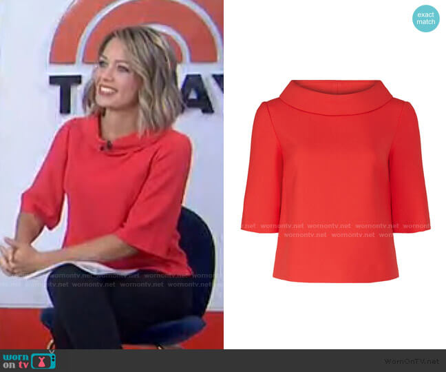 Kailee Top by Trina Turk worn by Dylan Dreyer  on Today