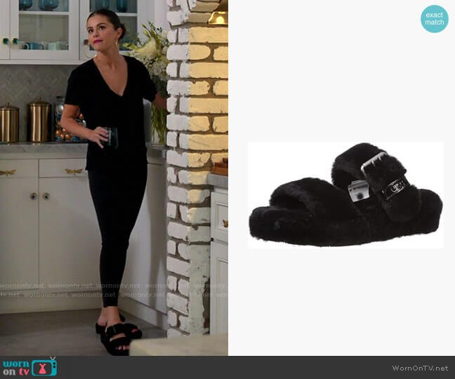 Ugg Australia Fuzz Yeah Slipper worn by Selena Gomez  on Selena + Chef
