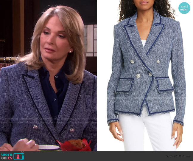 Frisco Tweed Jacket by Veronica Beard worn by Marlena Evans (Deidre Hall) on Days of our Lives
