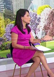 Vicky Nguyen's pink cap sleeve dress on Today