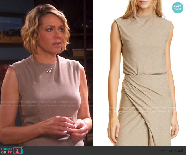 Drape Neck Top by Vince worn by Nicole Walker (Arianne Zucker) on Days of our Lives