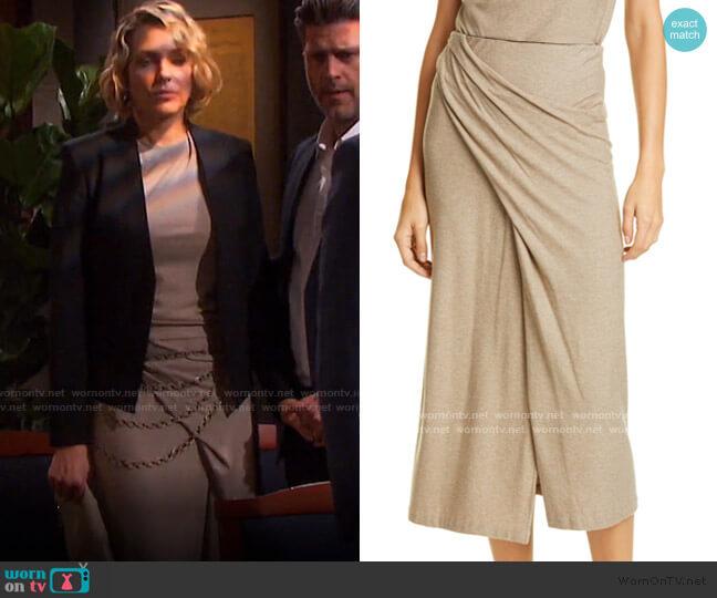 Twist Drape Midi Skirt by Vince worn by Nicole Walker (Arianne Zucker) on Days of our Lives
