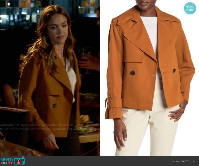 Vince Cropped Belted Jacket worn by Nancy McKenna (Jessica Alba) on LA's Finest