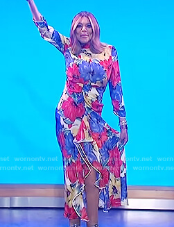 Wendy's floral print maxi dress on The Wendy Williams Show