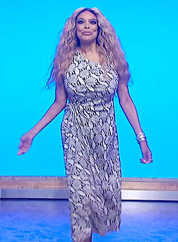Wendy's gray snakeskin dress on The Wendy Williams Show