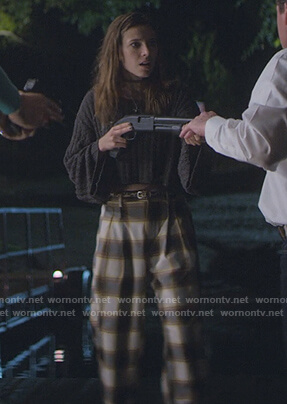 Blair's plaid pants on Teenage Bounty Hunters
