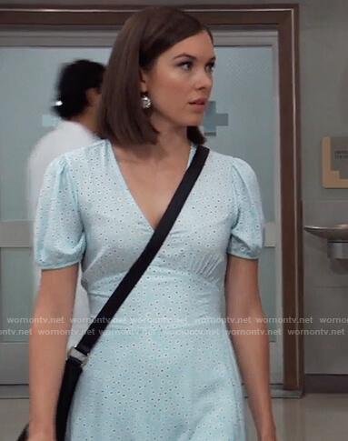 Willow's light blue floral dress on General Hospital