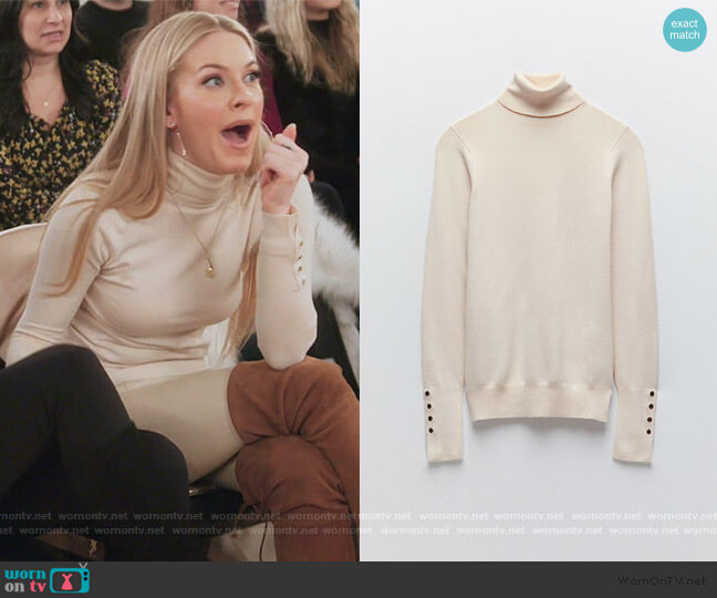 Basic Turtleneck Sweater by Zara worn by Leah McSweeney  on The Real Housewives of New York City