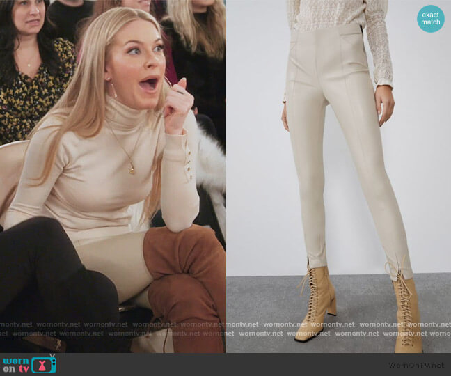 Faux Leather Leggings by Zara worn by Leah McSweeney  on The Real Housewives of New York City