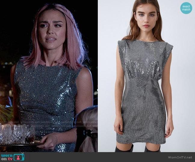 Zara Sparkly Dress worn by Nancy McKenna (Jessica Alba) on LA's Finest