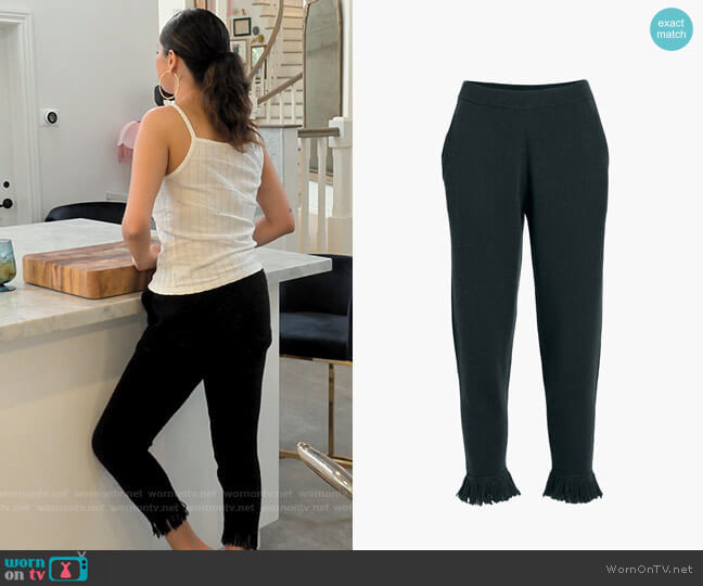 Zoe Jordan Haxel Trousers worn by Selena Gomez  on Selena + Chef