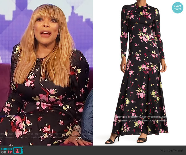Murray Floral Long Sleeve Maxi Dress by A.L.C. worn by Wendy Williams  on The Wendy Williams Show