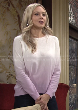 Abby's dip dye sweater on The Young and the Restless