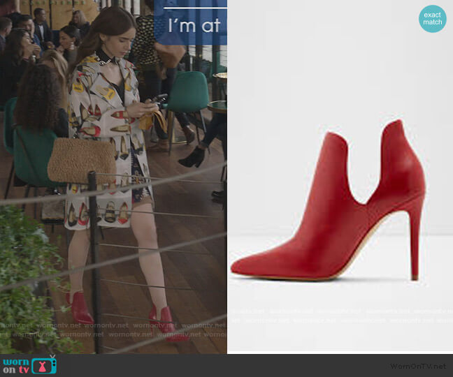 Amilmathien Heels by Aldo worn by Emily Cooper (Lily Collins) on Emily in Paris